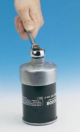 Hazet olajszűrő kulcs – 14 sarkú, átmérője 74,4 mm.