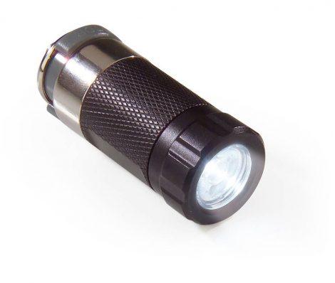 Autós szükség zseblámpa 12 V, LED és akku