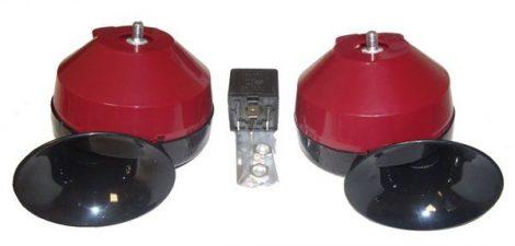 Két hangszínű elektronikus fanfár 12 V