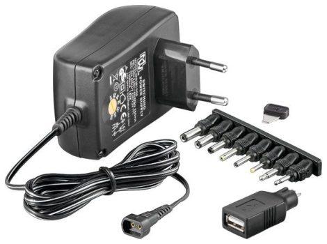 Adapter 1500 mA / 3-12 V állítható, stabilizált.
