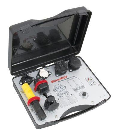 24 Voltos rádiós vontató és tehergépkocsi világítás tesztelő/ rádió bőrönd