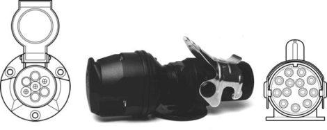 SECORÜT - Feszültség-átalakító 24 V-12 V, 13-7 pólusú