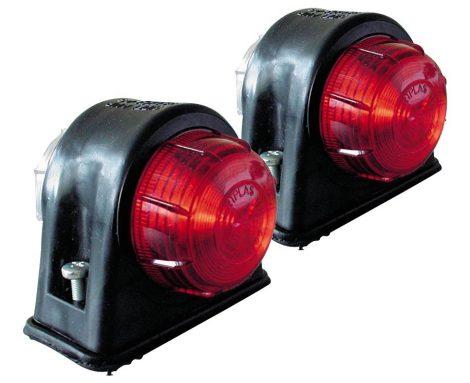Pozícióvilágítás – piros/fehér, robosztus gumiházban, 2 db
