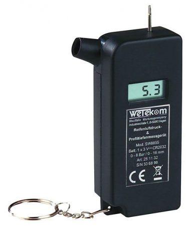 WETEKOM digitális keréknyomás ellenőrző és gumiprofil mérő – 2 in 1.