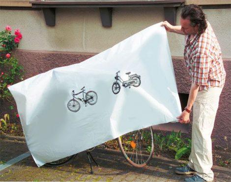 WESTFÁLIA kerékpár védőfólia, robogó védőhuzat.