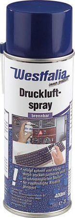Sűrített levegős spray, éghető, 400 ml.