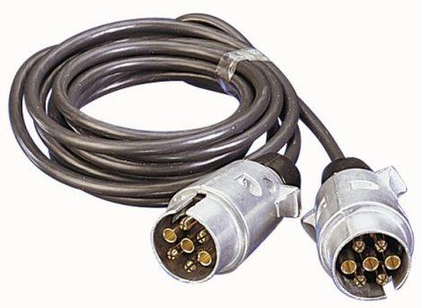 Összekötő kábel 2 fém dugóaljjal, 3 m, 7-pólusú