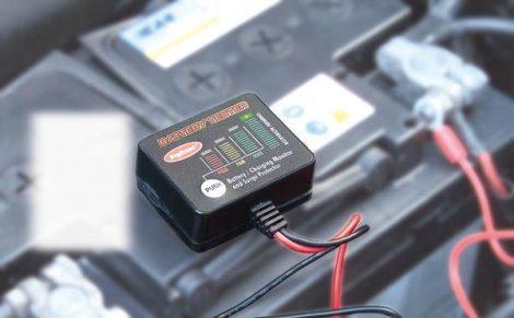 Akkumulátortesztelő 12V