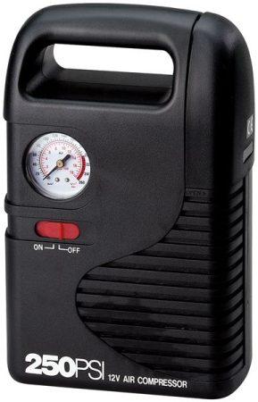 Hordozható kompresszor 12 V, univerzálisan használható