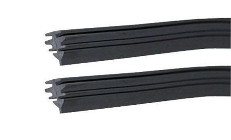 Ablaktörlő gumi – lapos, merevített szerkezethez, 2 db.