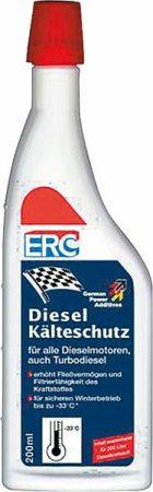 ERC dízel dermedés gátló, 200 ml – minden dízelmotorhoz, turbó dízelhez is.