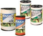 BASIC CLASSE villanypásztor szalag, 10 mm széles, 200 m, fehér.