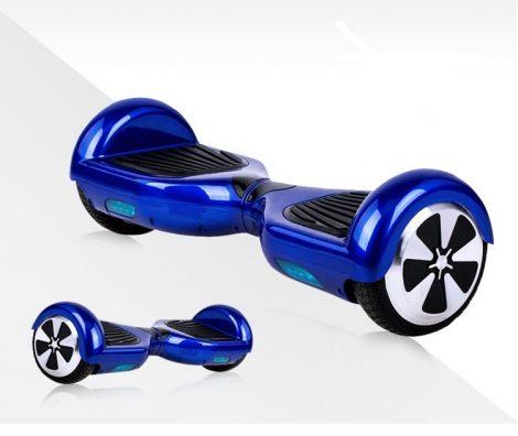 Hoverboard, Self Balance Scooters, Mini Segway, elektromos gördeszka kék, kék LED fénnyel, kérésre mint raktári elektromos közlekedő eszköz számlára.