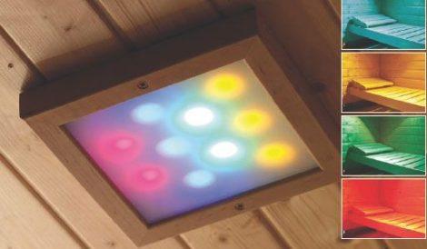 Karibu LED színfényterápia, hozzá rádiós távirányító infra kabinba és szaunához