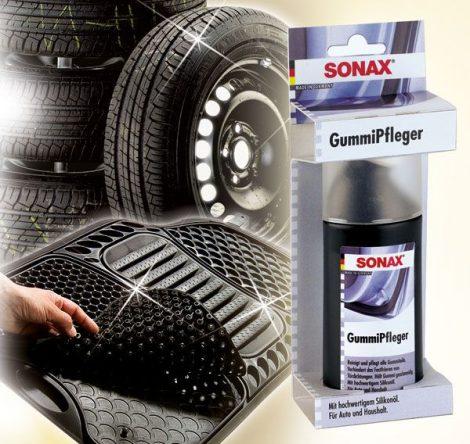 SONAX gumiápoló, 100 ml, tisztít és ápol minden gumirészt.