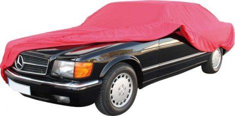Személygépkocsi pamut védőponyvagarázs, beltérre, mérete S (H x SZ x M): 405 x 155 x 110 cm.