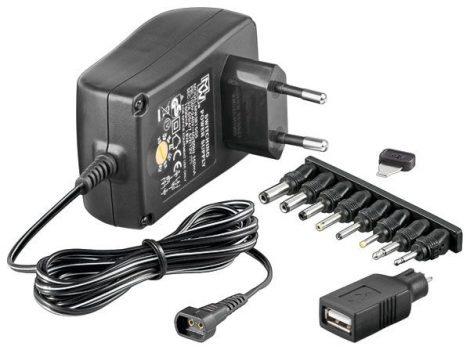 Adapter 600 mA / 3-12 V állítható, stabilizált.