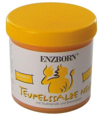 """Enzborn """"teufelssalbe heiss"""" ördögkenőcs, forró, ördögkarom és csalán, 200 ml"""