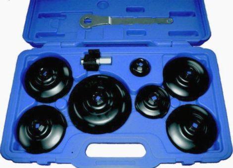 Kunzer olajszűrő lecsavaró készlet bőröndben, 9 részes személygépkocsik és kishaszon gépjárművek részére.
