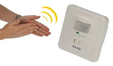 HEITRONIC infravörös mozgásérzékelő tapsérzékelővel.