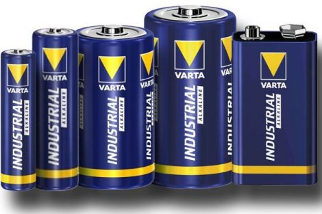 Varta ipari mikro (AAA) két darab alkáli elem.