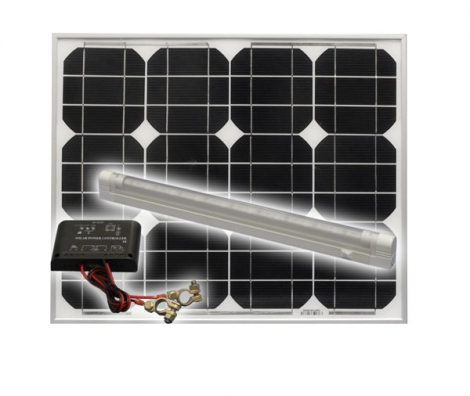 Solar Trend - Solar-sziget szett 30 W,  Hálózat-független a napenergia által.