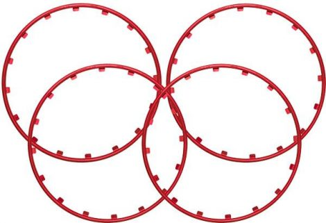 RIM RINGZ™ felnikarika, 20 col, színe: piros.
