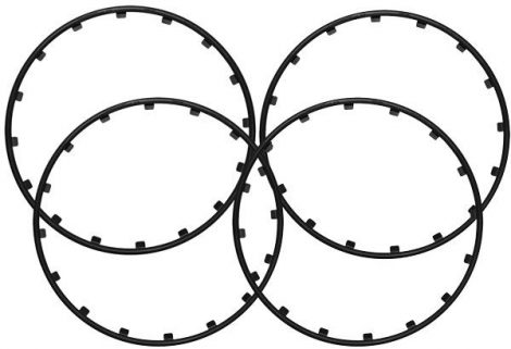 RIM RINGZ™ felnikarika, 18 col, színe: fekete.