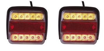 LED hátsóvilágítás háromkamrás 2 db-os szett Vontatóvilágítás!