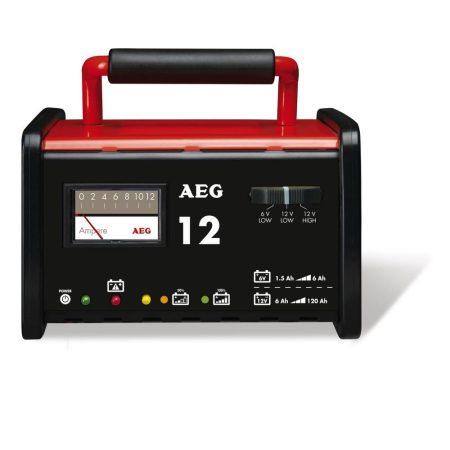 AEG szerviz akkumulátortöltő berendezés, WM12, 6/12V akkuhoz, ideális kabriókhoz és motorkerékpárokhoz.