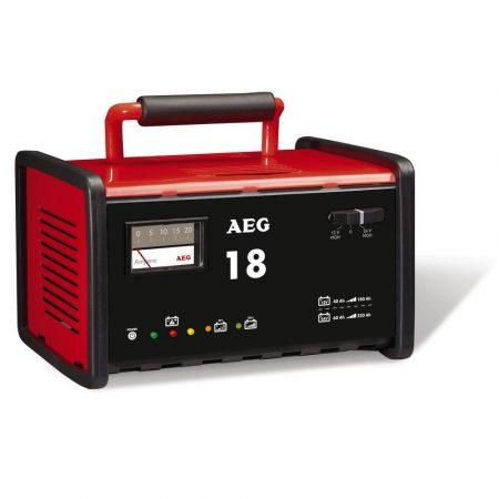 AEG szerviz akkumulátortöltő berendezés, WM18, 12/24V akkuhoz.