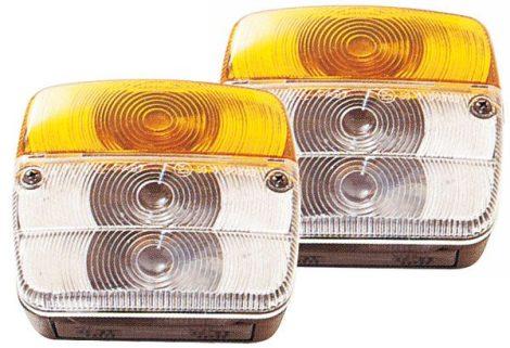 Határoló- és irányjelző lámpa, 2 db a csomagban, védőráccsal.