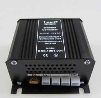 HAWI ® feszültség-átalakító 24 V-12 V-8 Amper