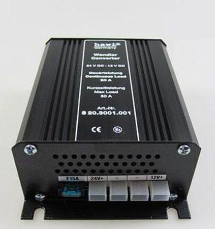 HAWI ® feszültség-átalakító 24 V-12 V-20 Amper