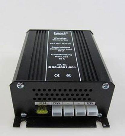 HAWI ® feszültség-átalakító 24 V-12 V-30 Amper