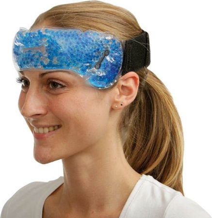 Homlokpánt, zselégyöngyökkel – migrén esetén és nagy melegben segítséget nyújt.