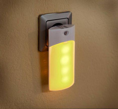 Automatikus LED konnektor fény – fényérzékelővel, meleg fehérfény.