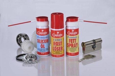 CENTRALIN háztartási segéd 3 darabos szett – rozsdaoldó, zsírspray + szilikon olaj.