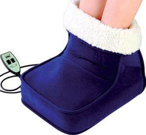 Elektronikus lábmelegítő, bundás belső résszel.