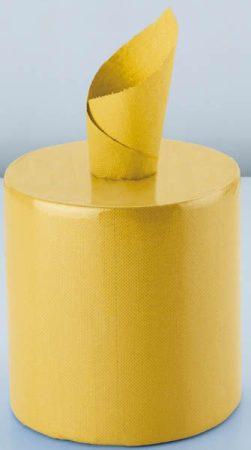 Tisztítókendő rolni sárga, kétrétegű, 21,7 x 30 cm, 400 lap, 2 tekercs