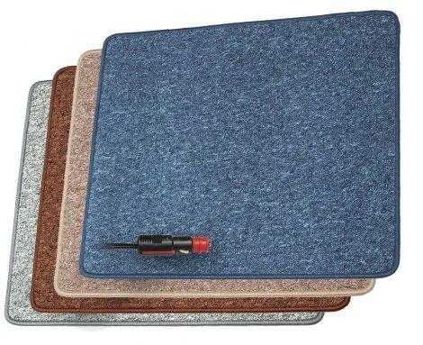 Fűthető szőnyeg 12 V kb. 50 W - 60 x 70 cm - Sötétkék színben.
