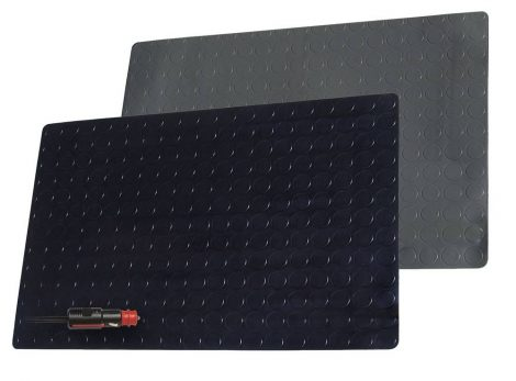 Fűthető PVC szőnyeg 12 V / kb. 25 W, 60 x 40 cm – fekete