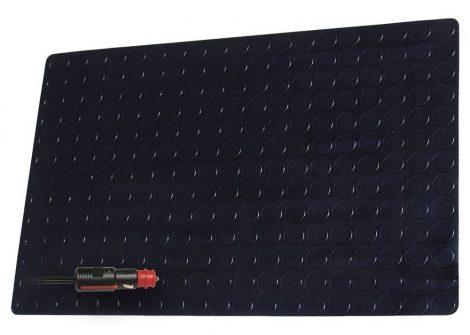 Fűthető PVC szőnyeg 12 V, 60 x 100 cm – fekete