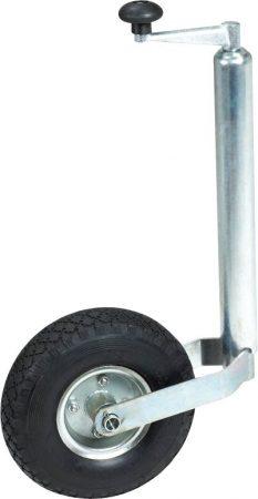 Utánfutó rögzítő kerék, felfújható gumival.
