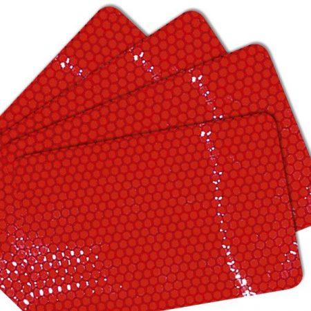 Fényvisszaverő fólia (macskaszem-fólia) 4 db – piros