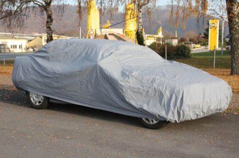 Kültéri teljes ponyvagarázs, mérete SUV/ van 475 x 195 x 175 cm.