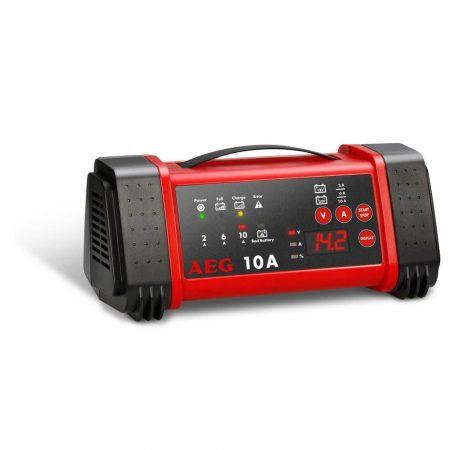 AEG mikroprocesszoros akkumulátortöltő LL 10.0-tól, 10.0A automatikus töltőrendszer.