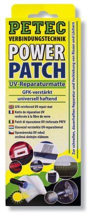 PETEC POWER PATCH UV javítókészlet, 75 x 150 mm.