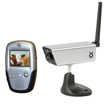 Utánfutó kamera szett 2,4 GHz – Mágnestalpas, akku, színes kijelzős, színes - ezüst színben