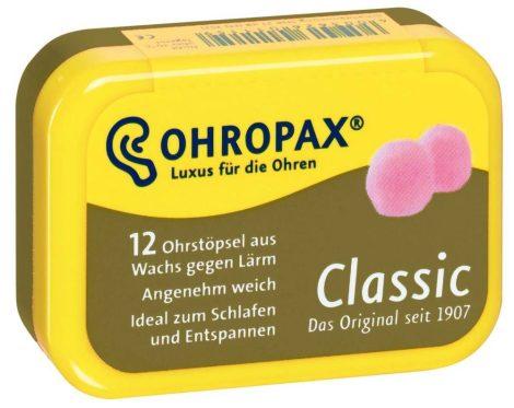 Ohropax Classic, az eredeti 1907 óta